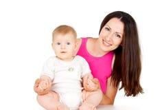 Z dzieckiem szczęśliwa matka Obrazy Stock