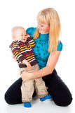 Z dzieckiem szczęśliwa rodzina Fotografia Stock