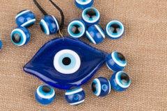 Złego oka koralik Obraz Stock