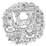 Z elementami czas dla herbaty Obrazy Royalty Free