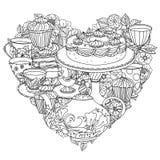 Z elementami czas dla herbaty Obraz Royalty Free
