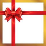 Z faborkami prezentów czerwoni łęki Fotografia Royalty Free