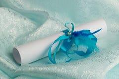 Z faborkiem ślubny listowy scrolling Zdjęcie Royalty Free