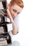 Z falcówkami biznesowa kobieta   Zdjęcie Royalty Free