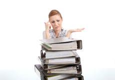 Z falcówkami biznesowa kobieta   Fotografia Stock