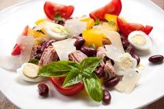 Z fasolami tuńczyk sałatka, pieprz, pomidory Fotografia Stock