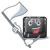 Z flagi f12 guzikiem instalującym na kreskówka komputerze royalty ilustracja