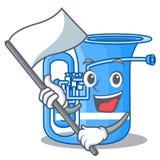 Z flagi miniatury tuba w kształt kreskówce ilustracji