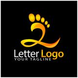 Z foot logo template, stock logo template. EPS file available. see more images related royalty free illustration