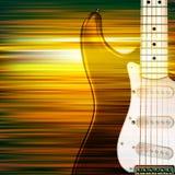 Z gitarą elektryczną grunge abstrakcjonistyczny tło Obrazy Royalty Free