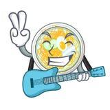 Z gitary naengmyeon odizolowywającym z charakterem w ilustracji