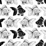 Z goldfish bezszwowy wzór Zdjęcie Stock