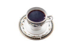 Z gorącą filiżanką czarna herbata Obraz Stock