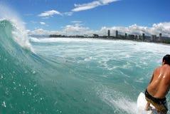 z gotowej surfowania lip Fotografia Stock