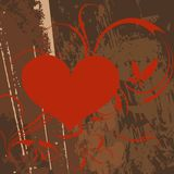Z grunge projektem abstrakcjonistyczny serce. Zdjęcie Royalty Free