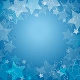 Z gwiazdami błękitny tło Ilustracji