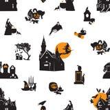 Z Halloweenowym tematem bezszwowy tło Obraz Stock