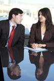 Z jego sekretarką męski szef Obrazy Stock