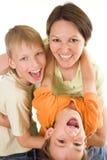 Z jego synami macierzyści remisy obrazy stock