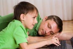 Z jego synem ojców sen obraz royalty free