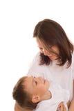 Z jej dzieckiem szczęśliwa matka obrazy stock