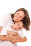 Z jej dzieckiem szczęśliwa matka zdjęcie stock