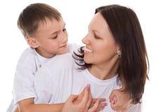 Z jej dzieckiem szczęśliwa matka obraz stock