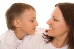 Z jej dzieckiem szczęśliwa matka wpólnie obrazy royalty free