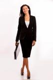 Z jej teczką biznesowa kobieta - chodzący Obrazy Stock