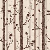 Z jesień drzewami bezszwowa tekstura Obrazy Stock