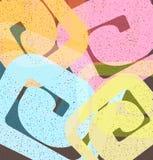 Z kędziorami kolorowy tło Zdjęcie Stock