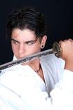 Z katana karate mężczyzna Zdjęcie Royalty Free