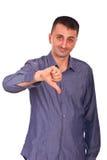 Z kciuka puszkiem zmieszany mężczyzna Zdjęcie Royalty Free