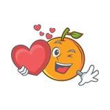 Z kierowym pomarańczowym owocowym postać z kreskówki Zdjęcia Stock