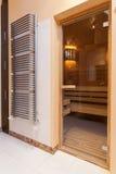 Z klasą dom - sauna fotografia stock