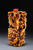 z kości słoniowej butelki tabaka Fotografia Royalty Free