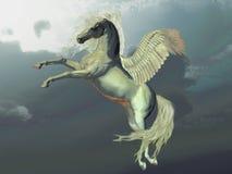 z kości słoniowej Pegasus ilustracja wektor
