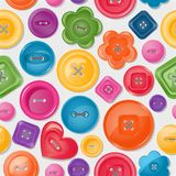 Z kolorowymi guzikami bezszwowy tło ilustracji