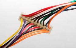 Z kolorowymi kablami elektryczna prymka Zdjęcia Stock