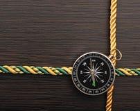 Z kompasem arkany kolorowa rama Obraz Stock