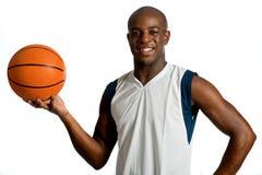 Z Koszykówką sportowy Mężczyzna zdjęcia stock
