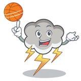 Z koszykówka grzmotu chmury charakteru kreskówką ilustracja wektor