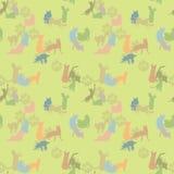 Z kotami bezszwowa tekstura Obraz Royalty Free