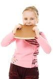 Z książką mała śliczna dziewczyna Fotografia Stock