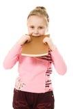Z książką piękna szkolna dziewczyna Zdjęcie Royalty Free