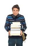 Z książkami szczęśliwa studencka samiec Obraz Stock