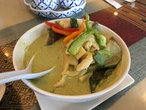 Z kurczakiem tajlandzki curry Zdjęcia Stock