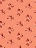 Z kwiat orchideami bezszwowy wzór Fotografia Stock