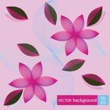Z kwiatami abstrakcjonistyczny kolorowy tło Zdjęcia Stock