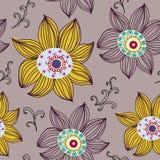 Z kwiatami bezszwowa tekstura Zdjęcie Stock